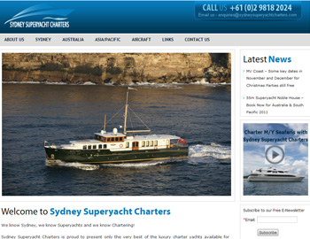 Sydney Superyacht Charters